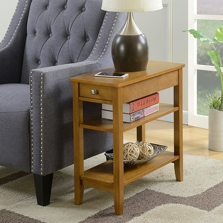 Copper Grove Aubrieta 3-tier Single-drawer End Table