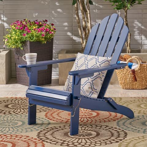 Hollywood Foldable Acacia Adirondack Chair by Christopher Knight Home