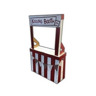 Advanced Graphics 35 x 13 x 58 in. Kissing Booth Cardboard Standup