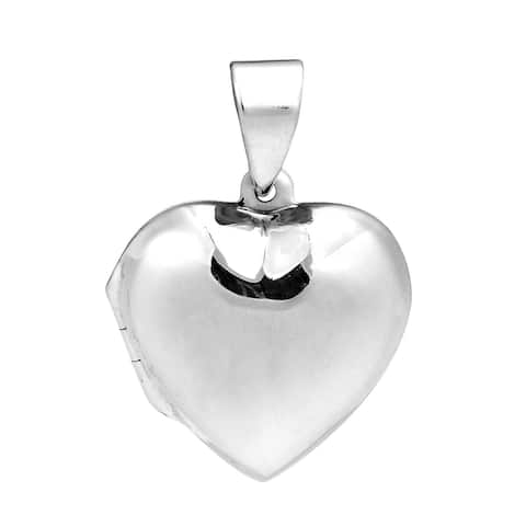 Handmade Adorable and Stylish Sterling Silver Heart-Shaped Locket Pendant (Thailand)