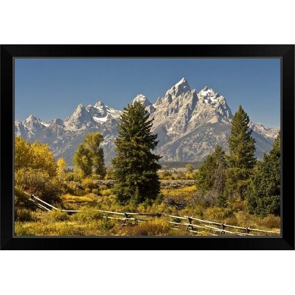 """""""Autumn in the Tetons"""" Black Framed Print"""