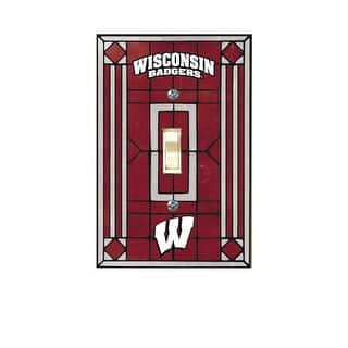 Wisconsin Badgers Art Gl Light Switch Cover