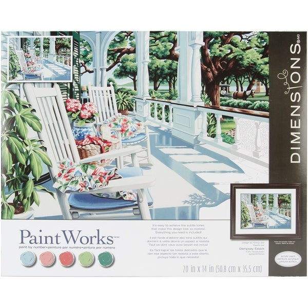 "Paint Works Paint By Number Kit 20""X14""-Veranda"