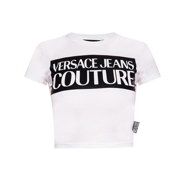 Versace Jeans Couture Womens Logo Tee Shirt White