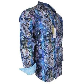 Robert Graham DRY CREEK Printed Paisley Button Down Sports Dress Shirt 2XL