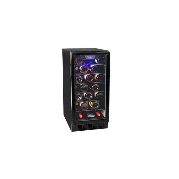 """Koldfront BWR300 15"""" Wide 30 Bottle Built-In Wine Cooler with Slim Design - Black - N/A"""