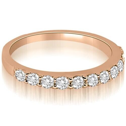 0.55 cttw. 14K Rose Gold Classic Round Cut Diamond Wedding Ring