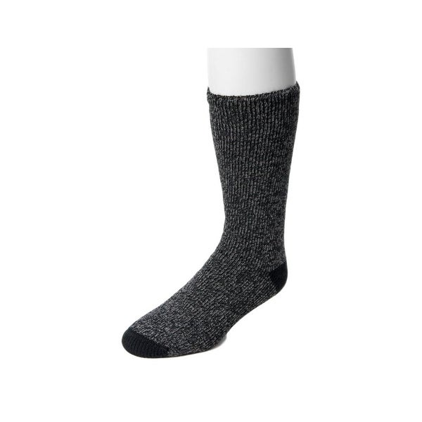 Muk Luks Socks Mens Heat Retainer Thermal Flexible Fit O/S - One size