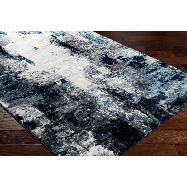 Cooke Industrial Abstract Polyester Area Rug On Sale Overstock 28388277