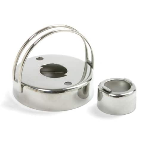 """Norpro 2.75"""" Stainless Steel Donut Biscuit Cookie Cutter w/ Removable Center"""