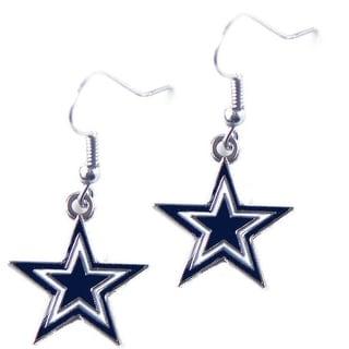 Dallas Cowboys Dangle Logo Earring Set Charm Gift NFL
