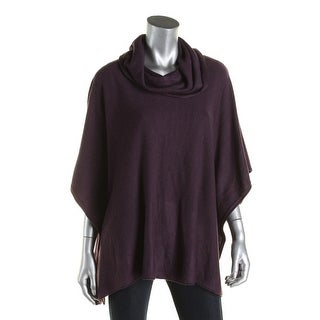 Karen Scott Womens Poncho Sweater Knit Cowl-Neck
