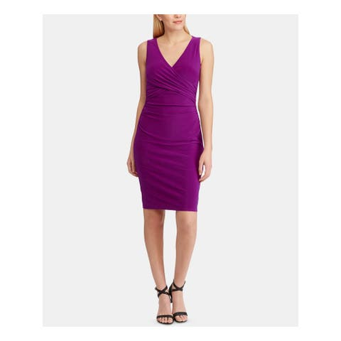 RALPH LAUREN Purple Sleeveless Above The Knee Body Con Dress Size 0P