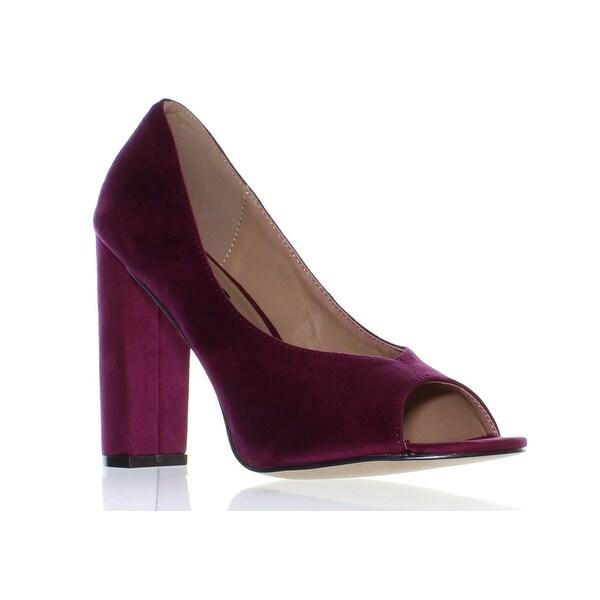 a1be71b8aa Shop Michael Antonio Womens Haver Plum Peep Toe Heels Size 8.5 (C,D ...