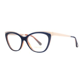 TOM FORD Cat eye TF 5374 Women's 090 Blue/Matte Gold Clear Eyeglasses - 54mm-15mm-135mm
