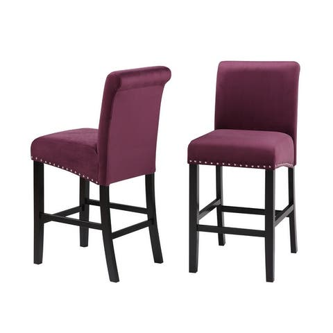 Milan Velvet Counter Chair (Set of 2)