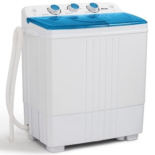 Della Small Portable Compact Washing Machine w/ Spin Dryer RV Top Load, 5KG Capacity