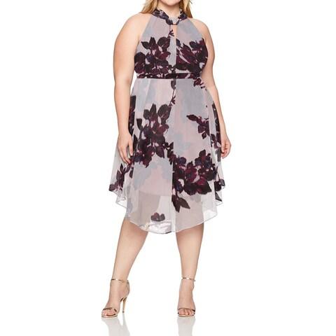 Rachel Rachel Roy Red Maroon Womens Size 20W Plus Sheath Dress