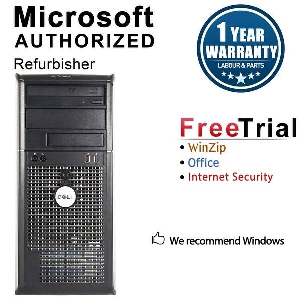 Dell OptiPlex 755 Computer Tower Intel Core 2 Duo E6550 2.33G 4GB DDR2 160G Windows 7 Pro 1 Year Warranty (Refurbished) - Silver