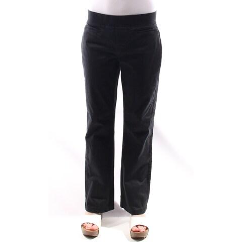 LEE Womens Black Boot Cut Wear To Work Pants Size: 10