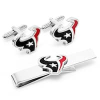 Cufflinks PD-TEX-CT Houston Texans Cufflinks & Tie Bar Gift Set
