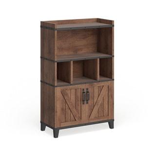 Furniture of America Gern Rustic Walnut 31″ Buffet Cabinet
