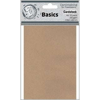 Fundamentals Cardmaking A6 Cards 10/Pkg-Kraft