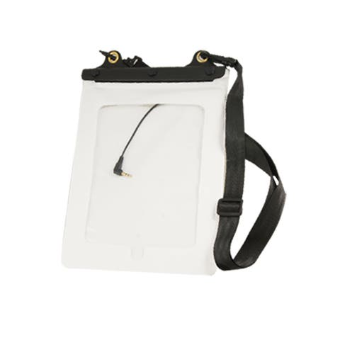 Water Resistant White Bag Holder w Strap for HP TOuchpad Tablet