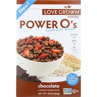 Love Grown Foods Cereal - Power Os - Chocolate - 10 oz - case of 6