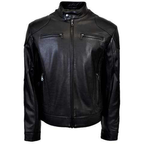 Men's Leather Racing Jacket