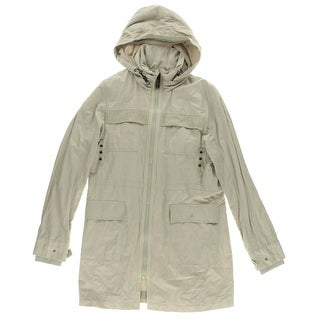 Elie Tahari Womens Juliana Pockets Hooded Parka