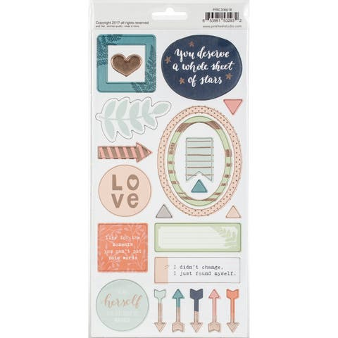"""Be You Chipboard Stickers 5.5""""X11"""" 2/Pkg-"""