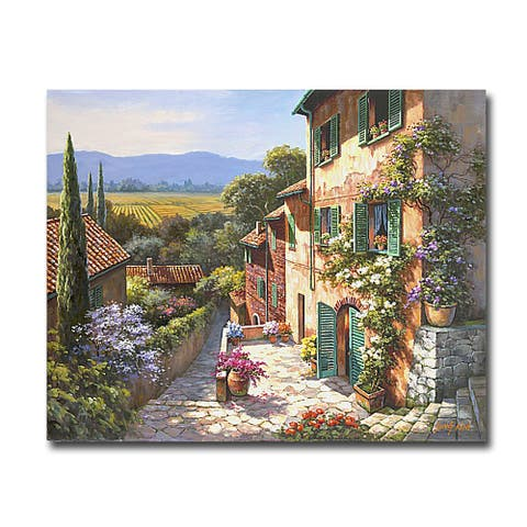 Spring in the Valley by Sung Kim Gallery Wrapped Canvas Giclee Art (24 in x 30 in)