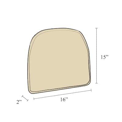 Klear Vu Gripper Barkskin Non-Slip Chair Cushion, Set of 4, Brown