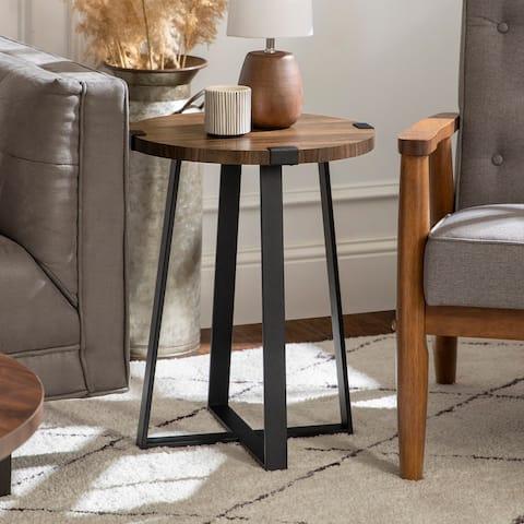Carbon Loft Kenyon Round Metal Wrap Side Table