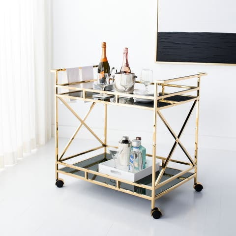 "Safavieh Couture Kehlani 2 Shelf Bar Cart - 36.2""x22""x31.9"""