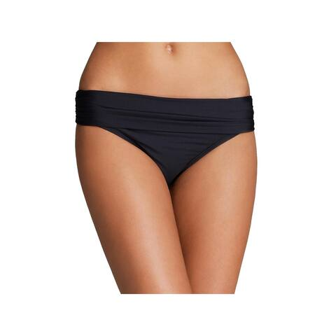 Athena Womens Fold-Over Ruched Swim Bottom Separates