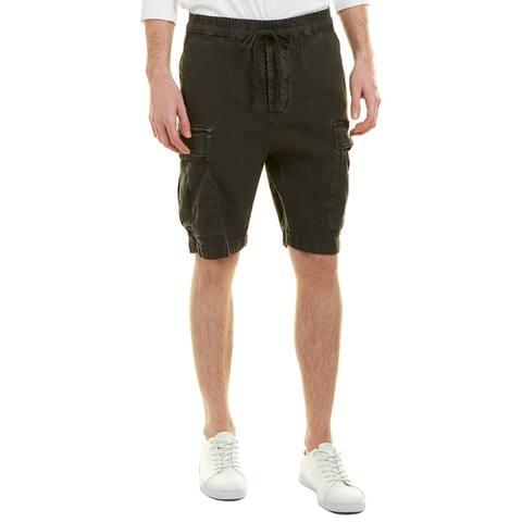 Vince Drop Rise Linen-Blend Military Short