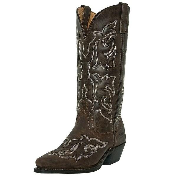 Laredo Western Boots Womens Runaway Leather Gaucho Nutty Mule