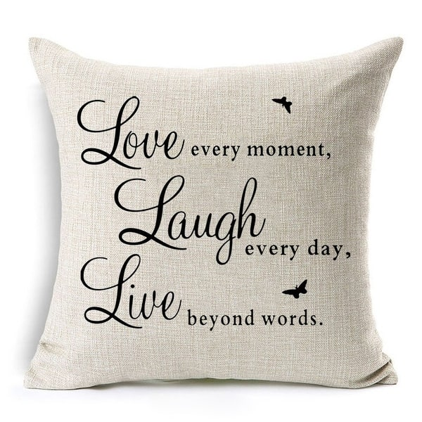 Inspirational Quote Saying Throw Pillow Covers Overstock 26880789