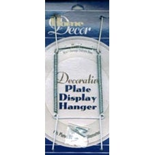 "White - Decorative Plate Display Hanger Expandable 10"" To 14"""