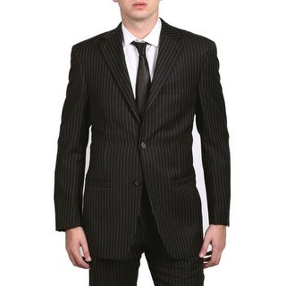 Versace Collection Men's Pinstripe Two-Piece Wool Suit Black/White