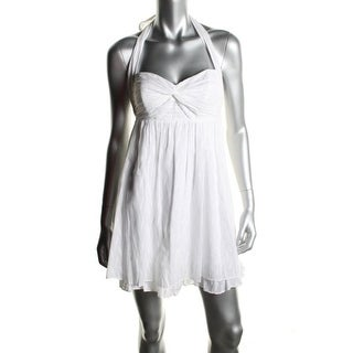 Guess Womens Cotton Halter Sundress - 10