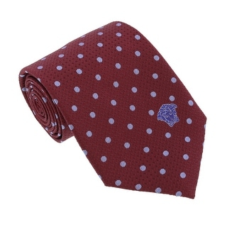 Versace Bordeaux/Blue Woven Circle Grid Tie