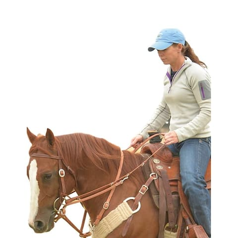 Martin Saddlery Martingale Roping Reins Train Leather Brown - One Size