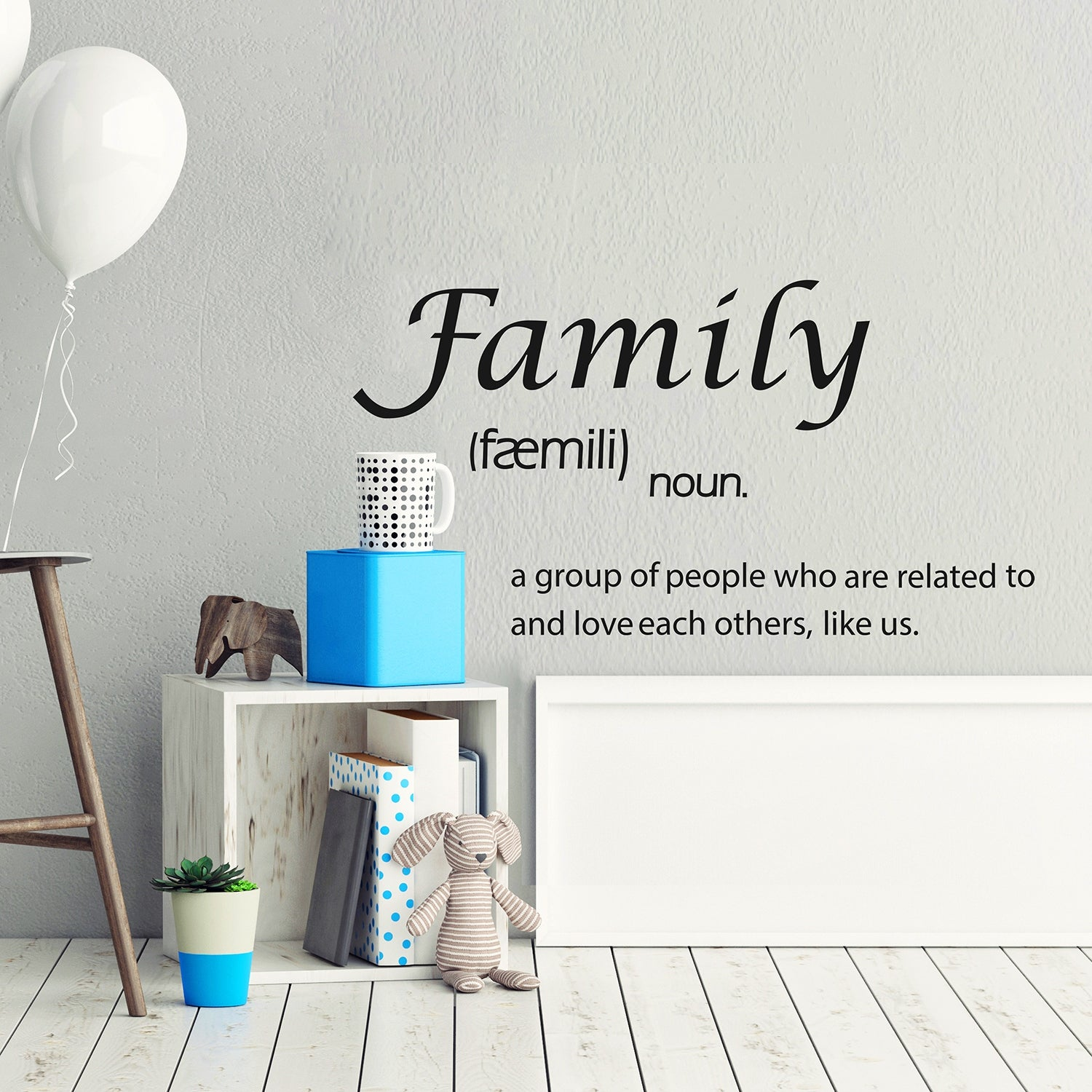 Shop Walplus House Quote Definition Of Family Wall Stickers Home Decor Diy Overstock 31770422