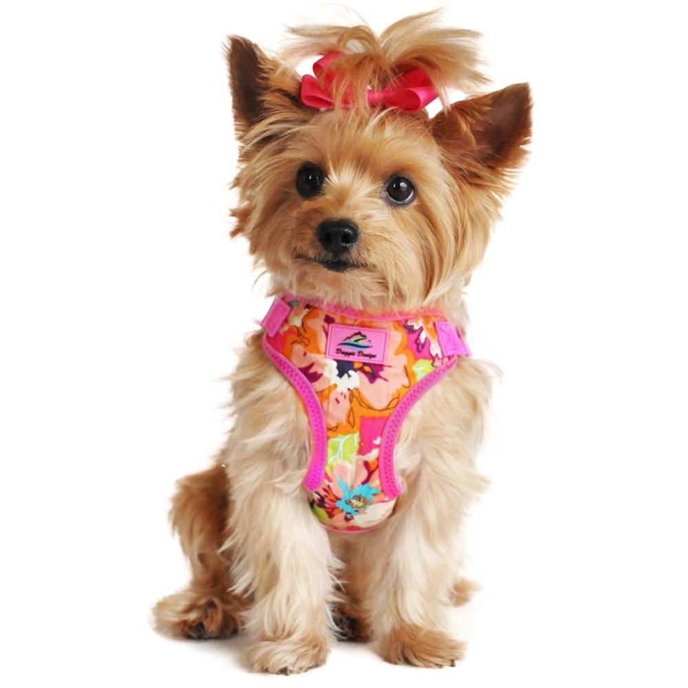 Wrap and Snap Choke Free Dog Harness (Paisley Purple - X-Small)