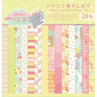 "Photo Play Double-Sided Paper Pad 6""X6"" 24/Pkg-About A Little Girl"