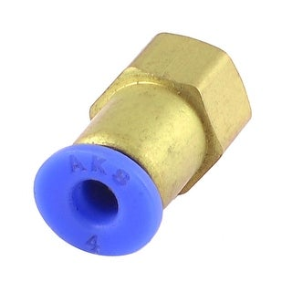 Unique Bargains Industry 9mm Thread to 4mm Inner Dia Pipe Pneumatic Quick Coupler Fitting