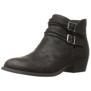 Carlos by Carlos Santana Womens Laney Fabric Almond Toe Ankle Fashion Boots